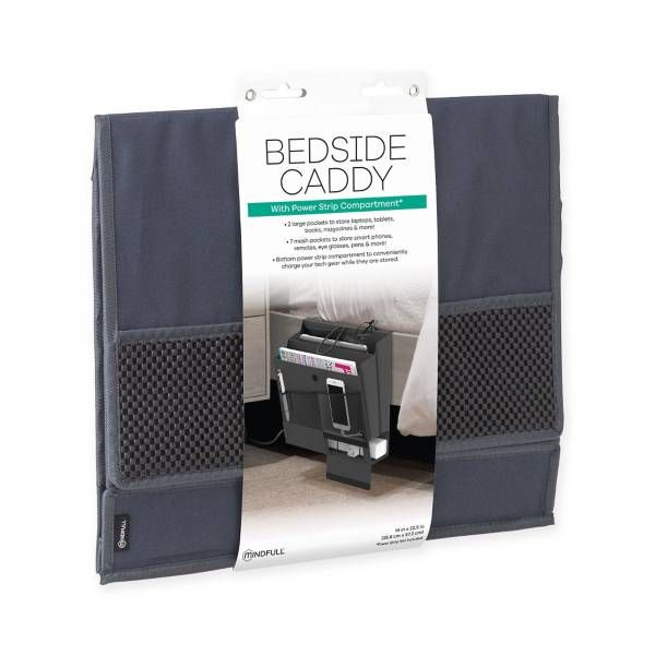 Product Image for Mindfull Products Bedside Caddy in Grey 1 out of 3