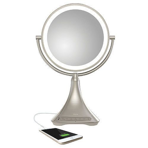 Digital Clocks and Clock Radios: Ihome Vanity Mirror With Bluetooth Model: Icvbt7sn ~ Brand New And Factory Sealed! -> BUY IT NOW ONLY: $109.98 on eBay!