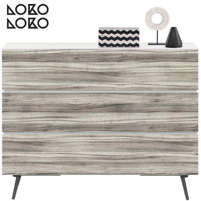 Vinilo para redecorar muebles con imitación de superficie de madera en tonos ténues y suaves para una decoración seria y elegante. #lokolokodecora
