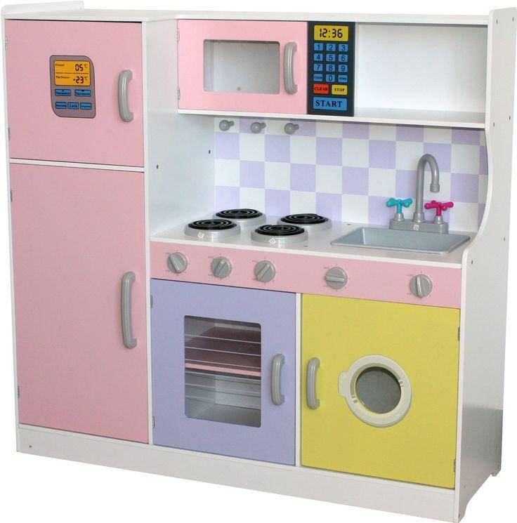 pretend kitchens toy sets kitchen childrens uk wooden pink play accessories