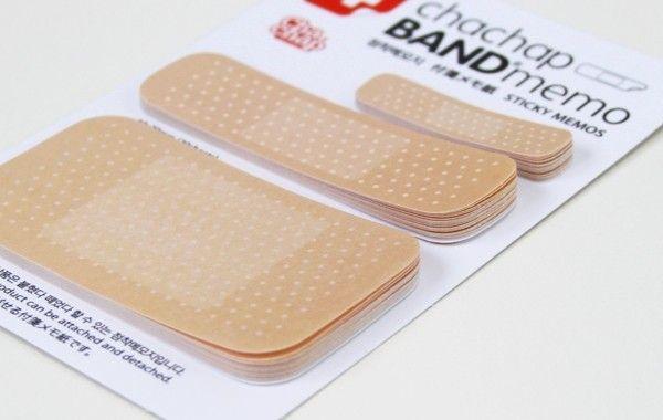 I soooo need these!    Band-Aid Style Notepad/Memo