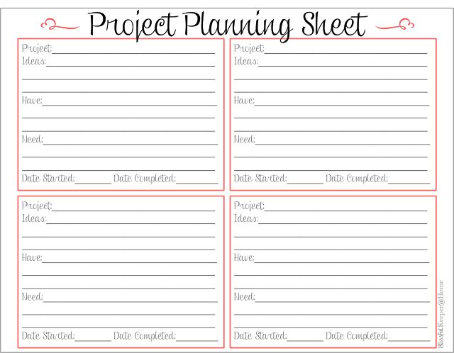 Worksheets Project Planning Worksheet 1000 ideas about project planner on pinterest planners blissful keeper at home planning sheet