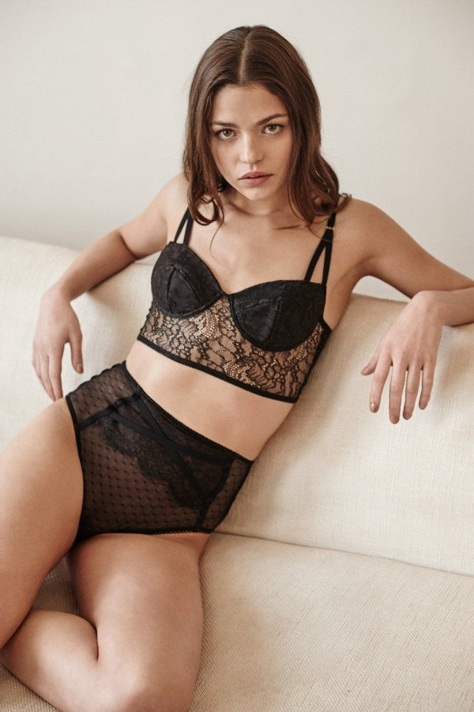 Dreamy lingerie made of end of line fabric. Isabella Knickers via Sheer Apparel