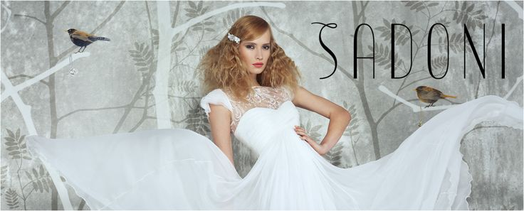 SADONI Bridal 2016 - Dress Evalie in French lace and flowy silk chiffon. A romantic bohemian touch for the modern bride..