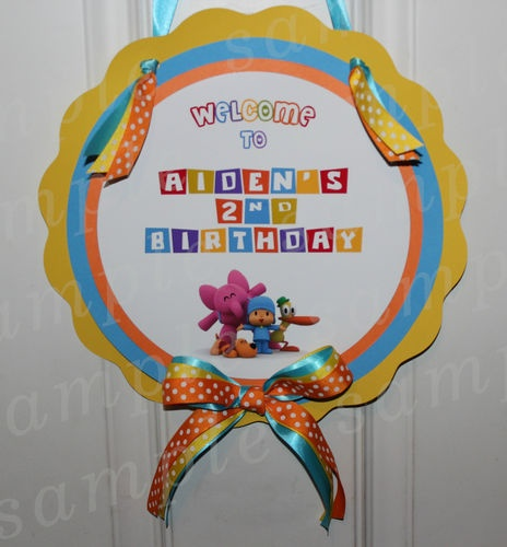 Personalized Door Tag Sign Pocoyo Birthday Party Decoration Custom | eBay & 84 best Pocoyo images on Pinterest | Birthday party ideas Parties ... Pezcame.Com