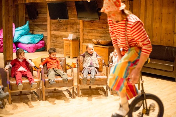 Les Fermes de Marie, Megève // Le clown fait son show au Hameau des Enfants - The clown is performing at Le Hameau des Enfants (photo by T. Shu) http://en.fermesdemarie.com/387-hameau-des-enfants.htm  http://www.tristanshu.com/Fr/Portfolios.html