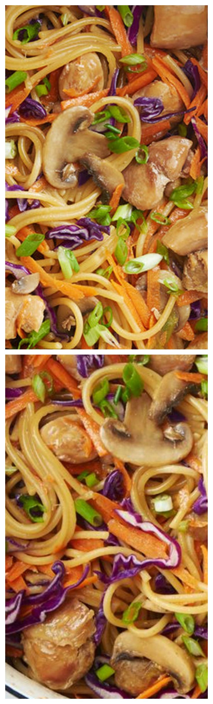 One-Pot Chicken Lo Mein ~ So delicious!