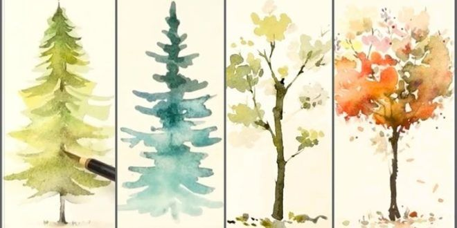 Comment Peindre 4 Arbres Differents Pour Les Debutants Peinture