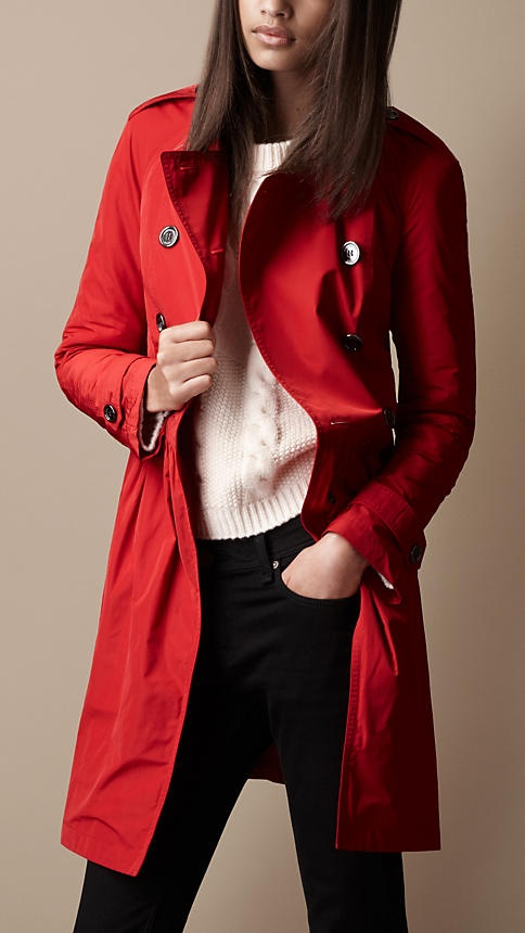 Burberry Mid-Length Gathered Skirt Trench Coat