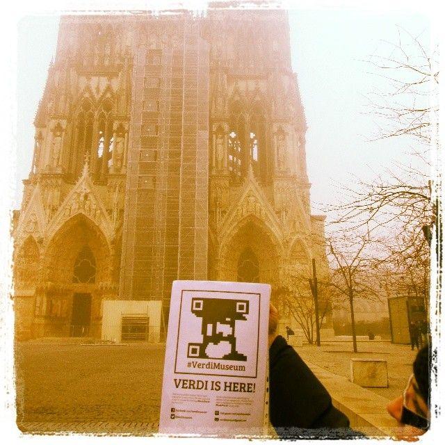 #Verdi parle francais! @DiBi85 l'ha trovato a #reims! #FoundVerdi #verdiishere #verdimuseum
