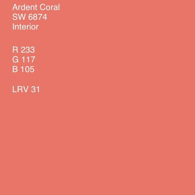 ardent coral - Google Search