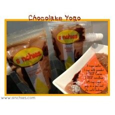 Chocolate Yogo - or replace 2 tbsp cacao with banana or strawberry nesquik for different flavours.