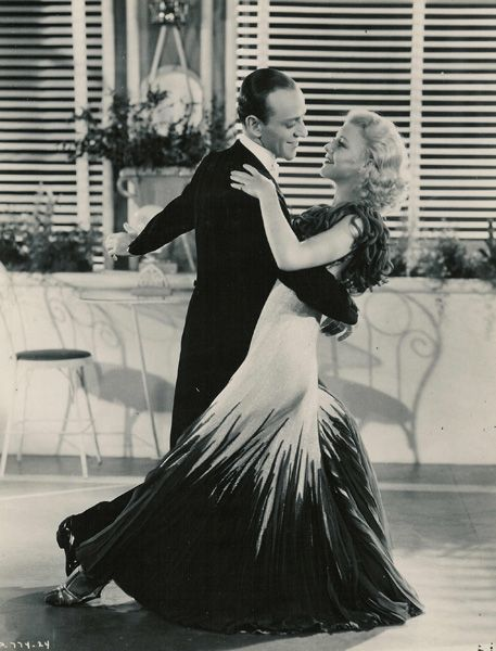 I love the simple elegance of Ginger Rogers' gowns worn in the many films she did with Fred Astaire.