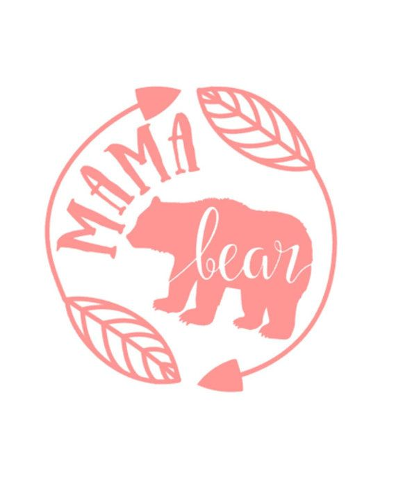 Mama Bear decal car decal cup decal mommy mom by TheLittlePines