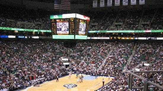 Utah Jazz Game at the Energy Solutions Arena