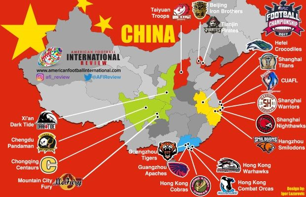 American Football League of China underway – Team preview Part 2 - American Football International