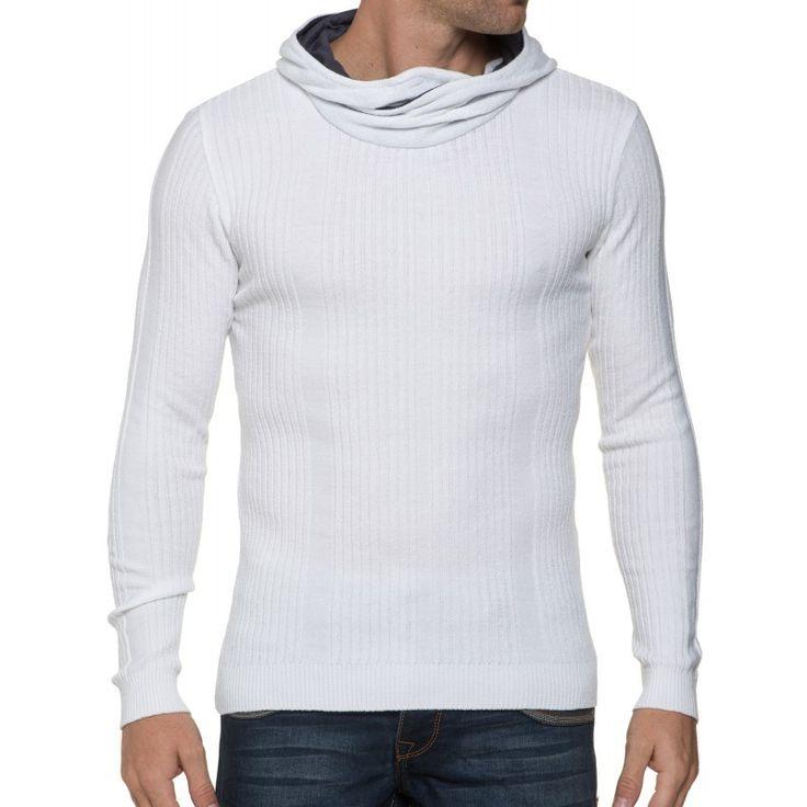 Pull - Pull Moulant Blanc Homme | BLZJeans.com