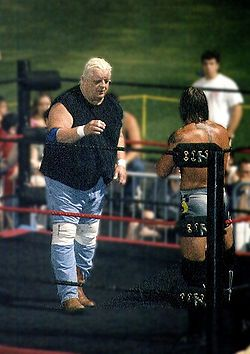 Dusty Rhodes  my all time favorite from the old days..got to see him in person in Davie and almost fainted.