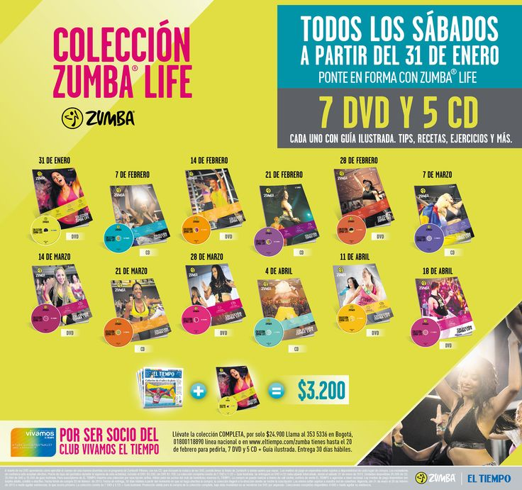 Colección Zumba Life El Tiempo Casa Editorial Febrero 2014
