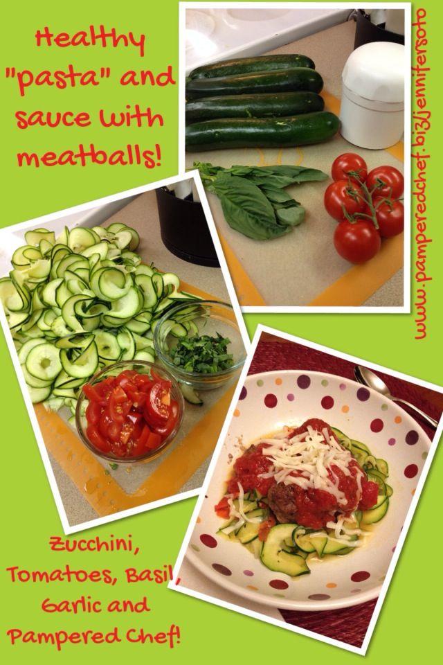 Healthy Zucchini Pasta with Pampered Chef! www.pamperedchef.biz ...