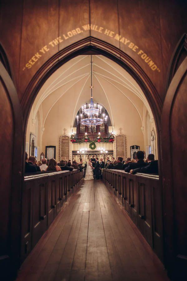 Holiday church wedding