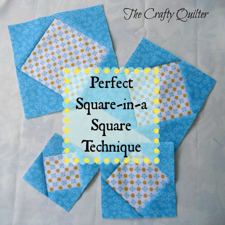 Perfect Square in a Square Technique @ The Crafty Quilter