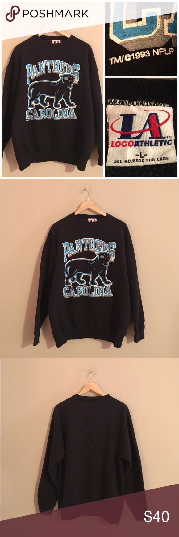 Vintage 90s Carolina Panthers NFL Sweatshirt Awesome vintage 1990s Carolina Panthers crewneck sweatshirt size Large. Only defect is a small bleach stain on the back as shown in picture. Vintage Tops Sweatshirts & Hoodies