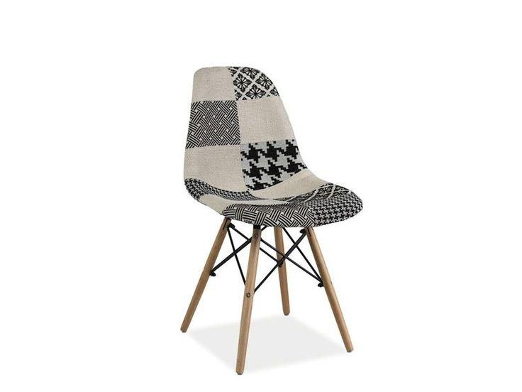 Krzesło SIMON B posiada solidną podstawę z drewna bukowego dodatkowo wzmocnioną metalowymi wspornikami, a tapicerowane oparcie i siedzisko tkaniną patchworkową w kolorach czerni i bieli dodaje uroku nie tylko krzesłu, ale również wnętrzu.   http://mirat.eu/krzeslo-simon-b-signal,id28041.html