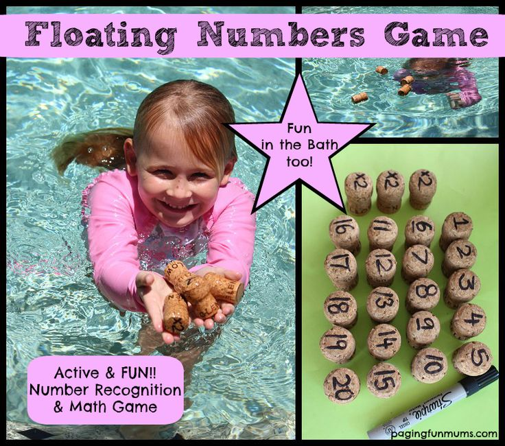 Floating Cork Numbers – a FUN Number Recognition & Math Game. A FUN Bath time activity too!!