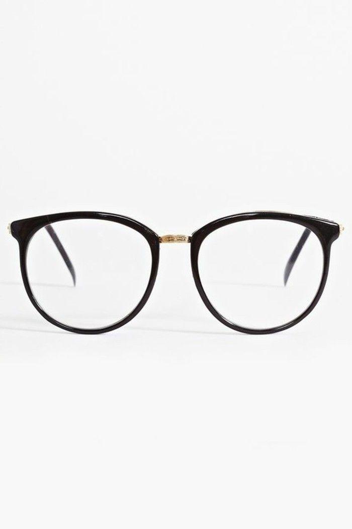 lunettes moins cheres sans correction avec monture noire
