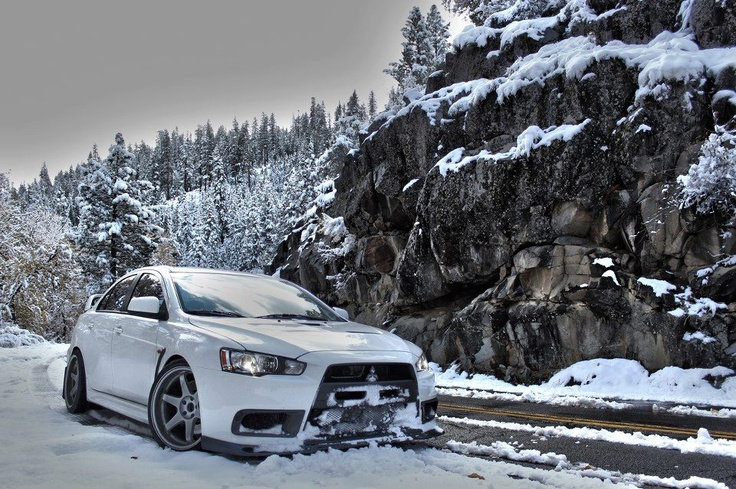 EVO X in snow = Magical