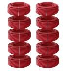 3/4 in. x 10000 ft. PEX Tubing Oxygen Barrier Radiant Heating Pipe Kit - Red
