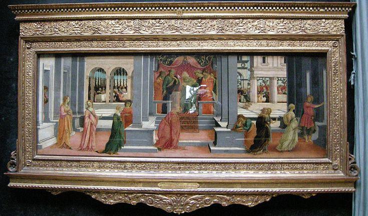 Filippino Lippi, storie di Ester  ed Assuero, museo Condè di Chantilly
