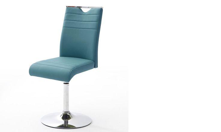 Chaise bleu design en PU et métal MILFORD 3