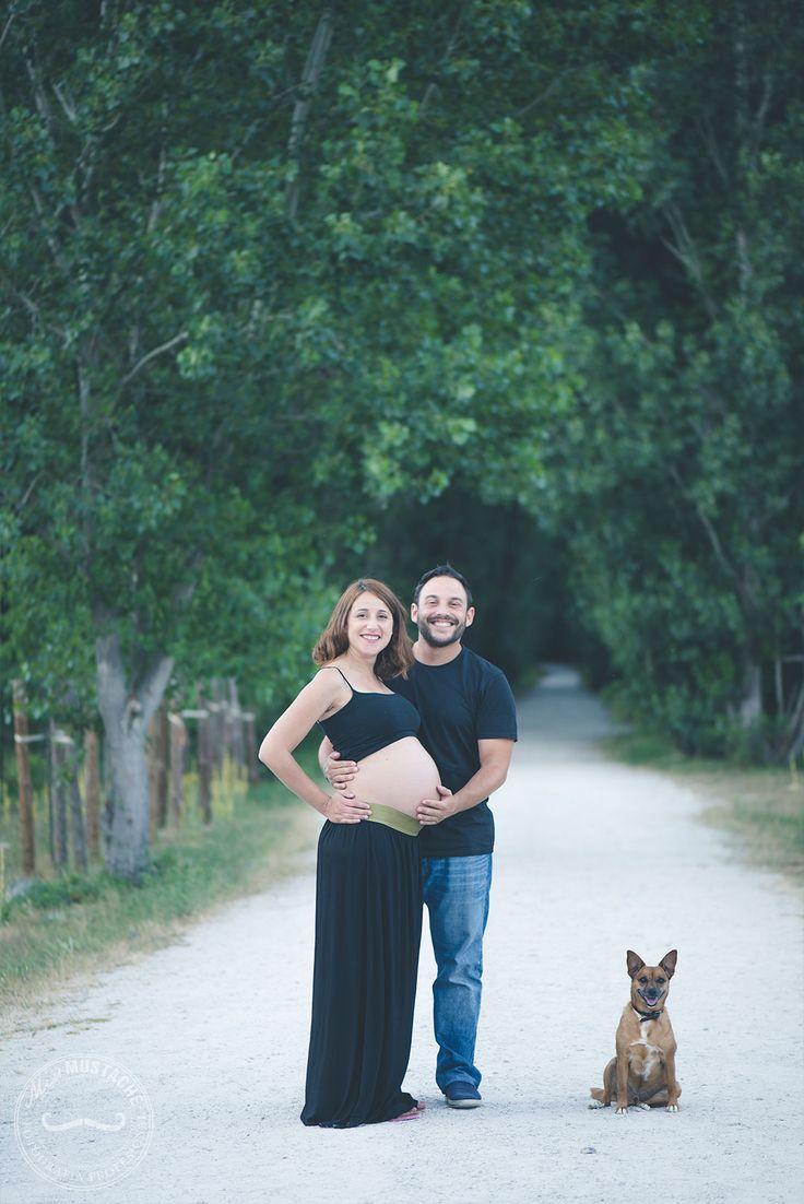 Fotografía Premama | Fotografía Embarazo | Embarazados | Fotografía futuros papas | Sesión en exteriores | Sesión familia | Mascotas | Atardecer