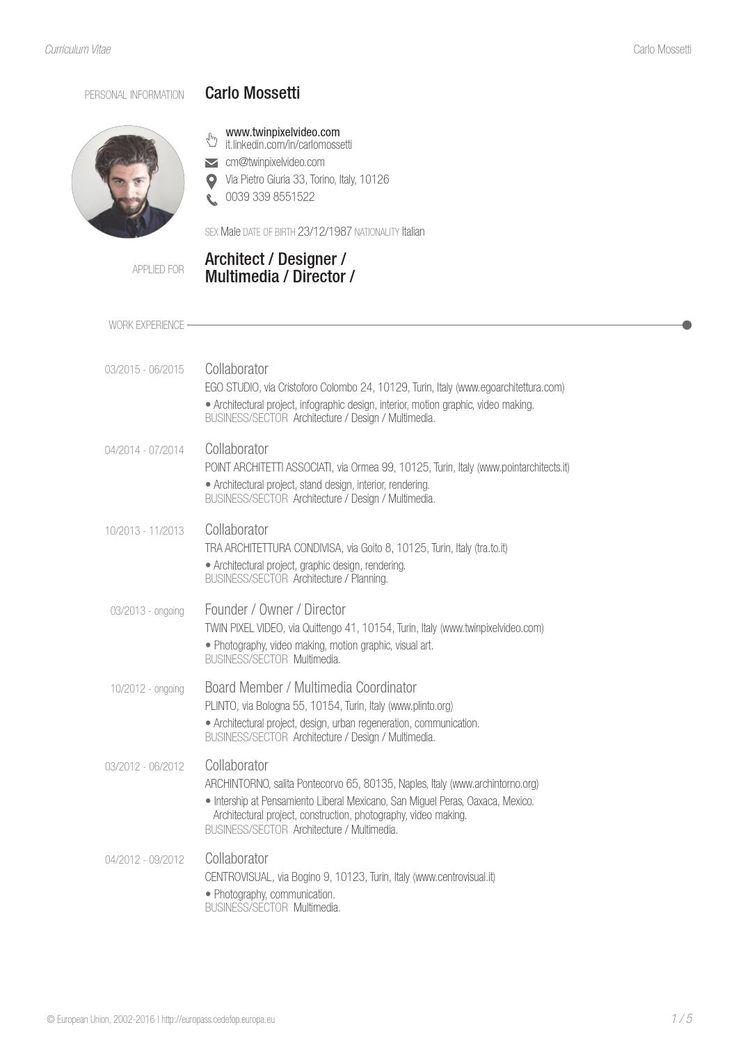 mau cv don gian xã hội Pinterest - cargo agent sample resume