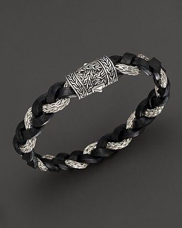 John Hardy Men S Classic Chain Braided Leather Cord