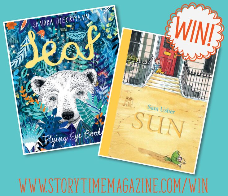 Win Leaf by Sandra Dieckmann (FlyingEyeBooks) and Sun by Sam Usher (Templar Books) - both wonderful reads for little ones! Enter our monthly competition at: http://www.storytimemagazine.com/win