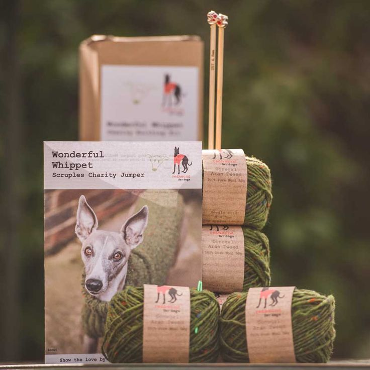 It is with great pride and pleasure we offer this Wonderful Whippet charity knitting kit that we have designed with our favourite charity in mind, Just Whippets Rescue (previously known as Scruples Whippet Rescue).  We will donate 100% of the profits generated from sales of this kit to this worthy charity. Just Whippets Rescue does great work