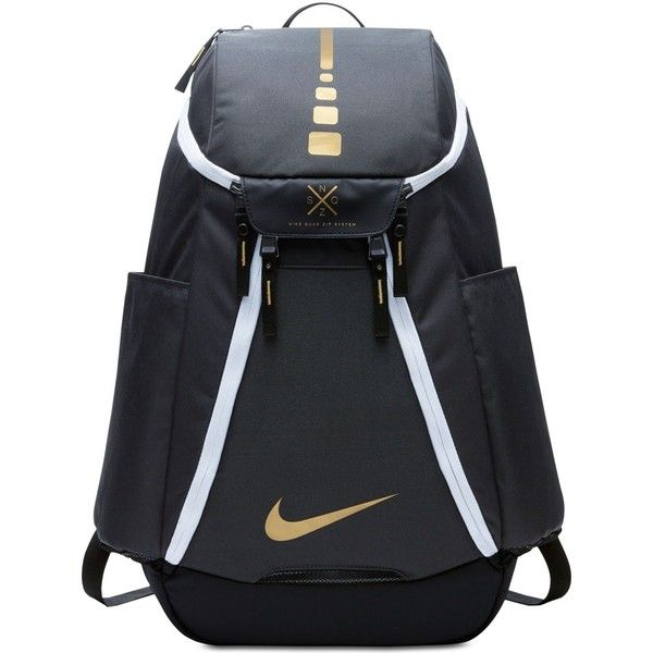 Nike Air Hoops Elite Basketball Backpack ($85) ❤ liked on Polyvore featuring bags, backpacks, anthracite grey and nike