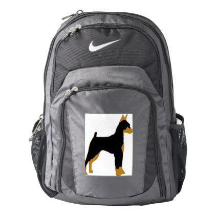 #Miniature Pinscher silo Nike Backpack - #Petgifts #Pet #Gifts #giftideas #giftidea #petlovers