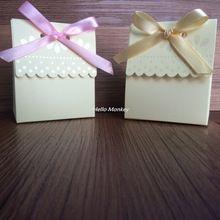 1 adet Krem Süt House Düğün Favor Kutuları Şeker Kutuları Kağıt Hediye Kutusu Çikolata Kutuları Hediye Paketi Bebek Duş Iyilik(China (Mainland))