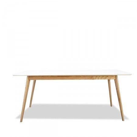 Table manger design scandinave bois et laque blanche for Table a manger scandinave