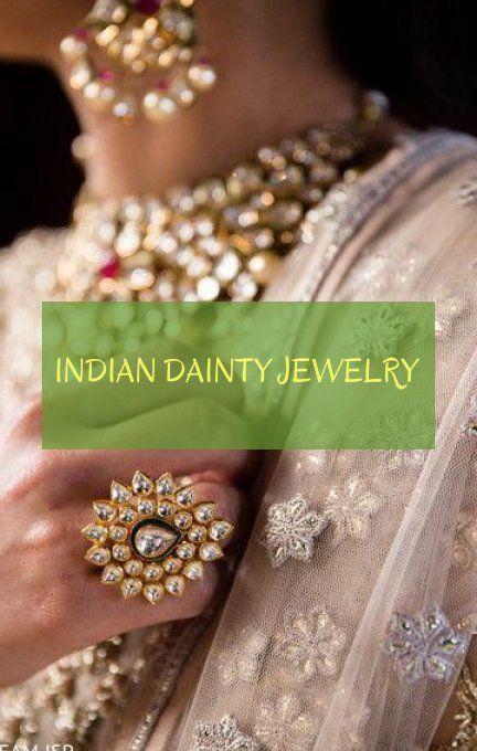 Indian dainty Jewelry – indischer zierlicher schmuck – gioielli indiani delicati