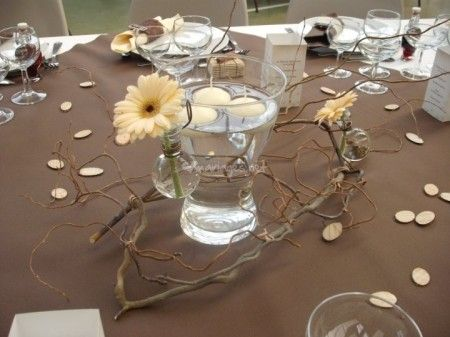 341 best images about centre de table on pinterest deco the bride and centerpieces for Bougies decoration table