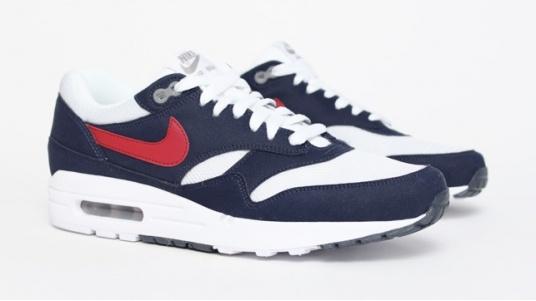 Nike Air Max 1 - Bleu / Rouge