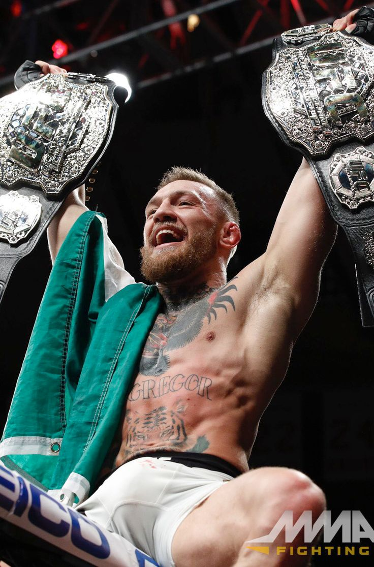 "mma-gifs: ""  Two Belts inside of Two Rounds. (Photo by @allelbows) """