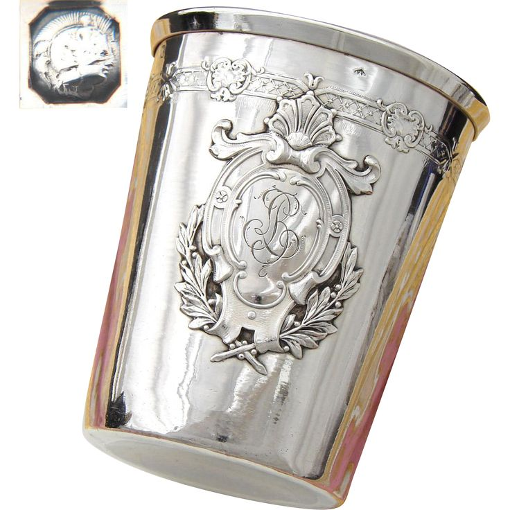 Antique French Sterling Silver Wine Or Mint Julep Cup