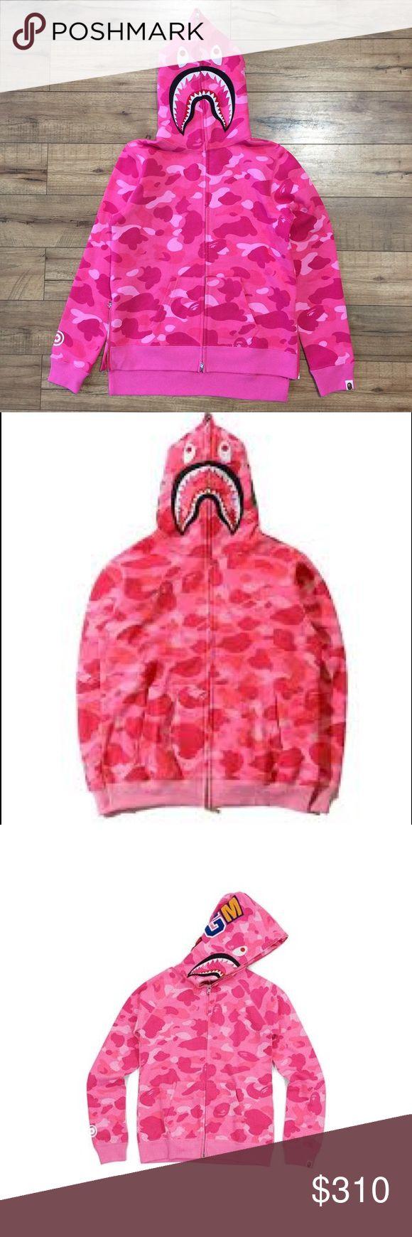 Bape Hoodie (pink) Pink bape hoodie, full zip up. Fast shipping Bape Jackets & Coats Lightweight & Shirt Jackets