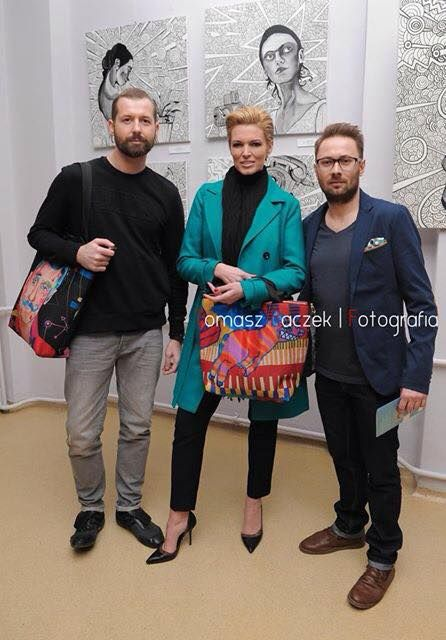 Ilona Felicjańska, Maciej Muszyński, Marcin Painta z MIMA bags